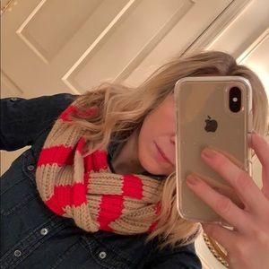 J. Crew striped infinity scarf